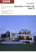 Bài giảng nguyên lý thiết kế nhà ở