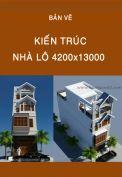 Bản vẽ kiến trúc nhà lô 4200x13000