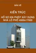 Hồ sơ xin phép xây dựng nhà lô 4500x17000