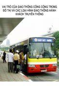 Vai trò của giao thông công cộng trong đô thị và các loại hình giao thông hành khách truyền thống