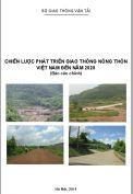 Báo cáo Chiến lược phát triển giao thông nông thôn Việt Nam đến năm 2020
