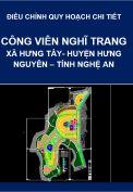 Điều chỉnh Quy hoạch chi tiết, tỷ lệ 1/500 Công viên nghĩa trang tại xã Hưng Tây, huyện Hưng Nguyên, tỉnh Nghệ An