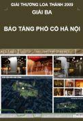 Giải Loa Thành 2009 – Giải ba – Bảo tàng phố cổ Hà Nội
