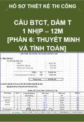 Hồ sơ thiết kế bản vẽ thi công cầu BTCT dầm T, 1 nhịp, dài 12M- Phần 6: Thuyết minh, bảng tính