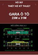 Hồ sơ thiết kế kỹ thuật Gara ô tô – kích thước 23M x 31M