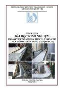 Kinh nghiệm trong việc ngầm hóa điện và thông tin trên đường Trần Hưng Đạo - Thành phố Hồ Chí Minh