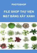 Photoshop – File thư viện cây xanh mặt bằng