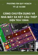 Phương án quy hoạch Khu cảng chuyên dụng và nhà máy sản xuất kết cấu thép, quy mô 125 ha