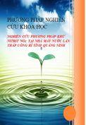 Nghiên cứu phương pháp khử Nitrit NO2 tại nhà máy nước Lán Tháp Uông Bí tỉnh Quảng Ninh