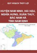 QH thủy lợi Nam Ninh, Hải Hậu, Nghĩa Hưng, Xuân Thủy, Bắc Nam Hà - T.Nam Định