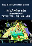QHC-Điều chỉnh quy hoạch chung thị xã Vĩnh Yên đến năm 2020