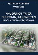 Quy hoạch chi tiết Khu dân cư  tại xã Phước An, xã Long Tân-huyện Nhơn Trạch-tỉnh Đồng Nai