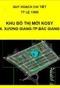 Quy hoạch chi tiết Khu đô thị mới Kosy – xã Xương Giang, thành phố Bắc Giang