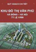 Quy hoạch chi tiết Khu đô thị mới Văn Phú – quận Hà Đông – TP. Hà Nội