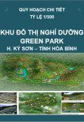 Quy hoạch chi tiết Khu đô thị, nghỉ dưỡng Green Park – huyện Kỳ Sơn – tỉnh Hòa Bình