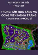 Quy hoạch chi tiết Khu trung tâm hỏa táng và công viên nghĩa trang phường Thanh Sơn