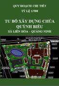 Quy hoạch chi tiết tỷ lệ 1/500 xây dựng tu bổ chùa Quỳnh Biểu