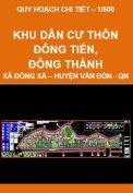 Quy hoạch chi tiết xây dựng tỷ lệ 1/500 - Các khu dân cư tại thôn Đông Tiến, Đông Thành, xã Đông Xá, huyện Vân Đồn