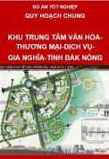 Quy hoạch khu trung tâm văn hóa-thương mại-dịch vụ-Thị xã Gia Nghĩa-Tỉnh Đắk Nông