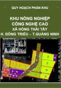 Quy hoạch phân khu Khu nông nghiệp công nghệ cao – xã Hồng Thái Tây – huyện Đông Triều – tỉnh Quảng Ninh