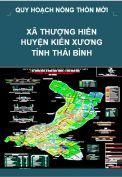 Quy hoạch xây dựng Nông thôn mới xã Thượng Hiền– huyện Kiến Xương – tỉnh Thái Bình