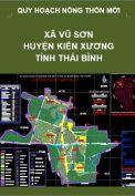 Quy hoạch xây dựng Nông thôn mới xã Vũ Sơn– huyện Kiến Xương – tỉnh Thái Bình