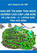 Quy hoạch khu đô thị sinh thái nghỉ dưỡng cao cấp Lâm Sơn – xã Lâm Sơn – huyện Lương Sơn – tỉnh Hòa Bình
