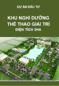 Thuyết minh dự án đầu tư Khu nghỉ dưỡng – Thể thao – Giải trí