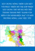 """Xây dựng nông thôn gắn kết với phát triển đô thị góp phần xây dựng Thủ đô Hà Nội trở thành thành phố """" Xanh- Văn hiến- Văn minh- Hiện đại"""""""" có môi trường sống, làm việc tốt."""