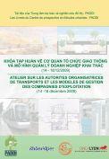 Cơ quan tổ chức giao thông và mô hình quản lý doanh nghiệp khai thác