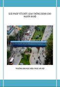 Tiểu luận: Giải pháp tổ chức giao thông dành cho người đi bộ qua đường trong thành phố Hà Nội