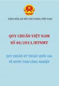 QCVN 40 :2011/BTNMT Quy chuẩn quốc gia về nước thải công nghiệp