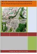 Tiểu luận: Thiết kế cải tạo và xây dựng công trình giao thông đô thị