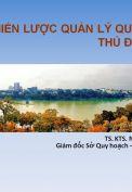 Chiến lược quản lý quy hoạch thủ đô Hà Nội