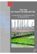 Giáo trình Quy hoạch sử dụng đất đai-Đại học Thái Nguyên