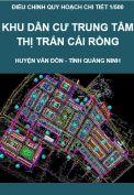 Điều chỉnh quy hoạch chi tiết 1/500 khu dân cư trung tâm thị trấn Cái Rồng, huyện Vân Đồn