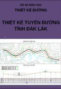 Đồ án thiết kế đường tỉnh Đắk Lắk
