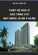 Đồ án thiết kế nhà ở cao tầng - Mặt bằng 22.3m x 46.5m
