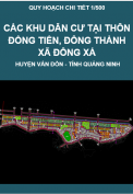 Quy hoạch chi tiết 1/500 Các khu dân cư thôn Đồng Tiến, Đông Thành, xã Đồng Xá, huyện Vân Đồn, tỉnh Quang Ninh.