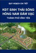 Quy hoạch chi tiết khu đô thị sinh thái sông hồng Nam Đầm Vạc Vĩnh Yên tỉnh Vĩnh Phúc