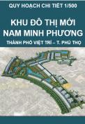 Quy hoạch chi tiết tỷ lệ 1/500 khu đô thị mới Nam Minh Phương, thành phố Việt Trì, tỉnh Phú Thọ