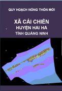 Quy hoạch xây dựng nông thôn mới xã Cái Chiên– huyện Hải hà– tỉnh Quảng Ninh