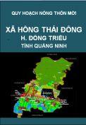 Quy hoạch xây dựng nông thôn mới xã Hồng Thái Đông– huyện Đông Triều – tỉnh Quảng Ninh
