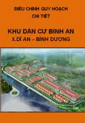 Điều chỉnh quy hoạch chit tiết Khu dân cư Bình An