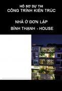 Hồ sơ dự thi công trình kiến trúc nhà đơn lập: Bình Thạnh house