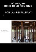 Hồ sơ dự thi công trình kiến trúc: Restaurant – Son La