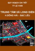 Quy hoạch chi tiết 1/500 Khu trung tâm xã Long Điền