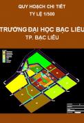Quy hoạch chi tiết Trường Đại Học Bạc Liêu