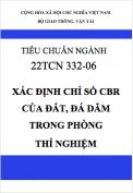 22TCN 332-06 Xác định chỉ số CBR của đất, đá dăm trong phòng thí nghiệm