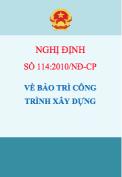 Nghị định số 114/2010/NĐ-CP Về bảo trì công trình xây dựng